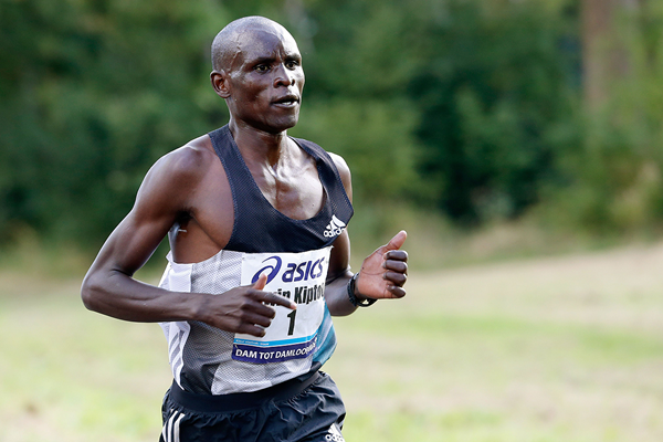 Edwin Kiptoo on his way to winning the Dam tot Damloop (AFP / Getty Images)