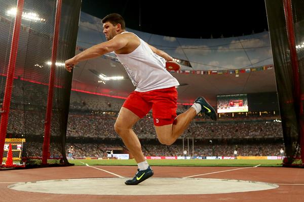 Robert Urbanek in the discus at the IAAF World Championships, Beijing 2015 (Getty Images)