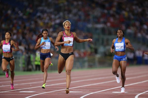 Natasha Hastings wins at the IAAF Diamond League meeting in Rome (Philippe Fitte)