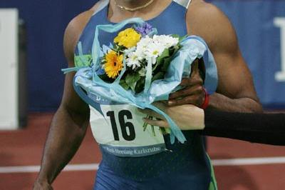 All smiles - Marcus Brunson after his 6.46 in Karlsruhe (Chai von der Laage)