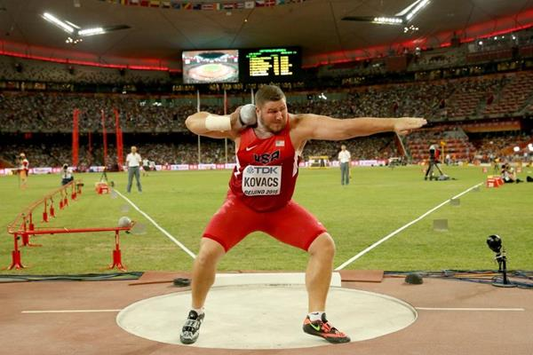 Joe Kovacs in the shot put final at the IAAF World Championships, Beijing 2015 (Getty Images)