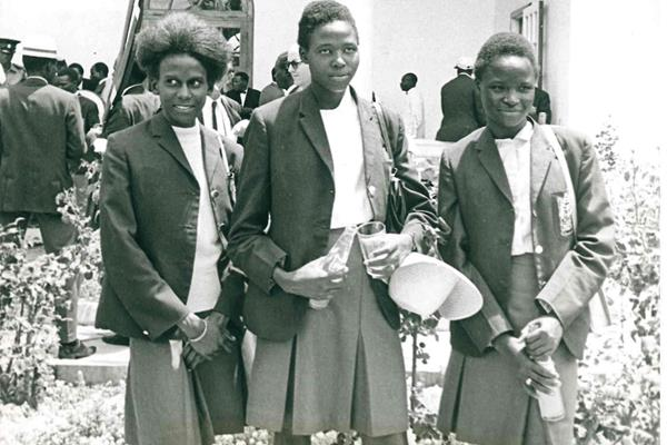 In 1968, from left - Lydia Stephens, Elizabeth Chesire and Tecla Chemabwai, the first three Kenyan women to compete at the Olympic Games (Erick Baraza)