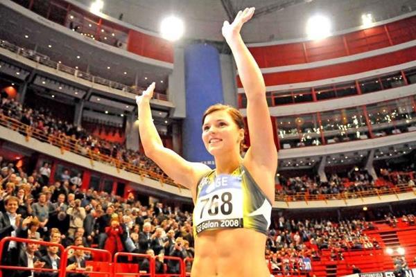 Susanna Kallur in the Globe Arena in Stockholm (Hasse Sjögren)