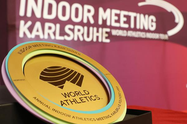 World Athletics Heritage Plaque - Indoor Meeting Karlsruhe, 31 January 2020 (LOC)