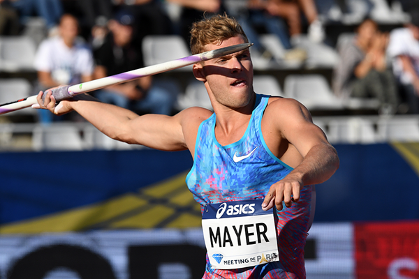 Kevin Mayer at the IAAF Diamond League meeting in Paris (Gladys Chai von der Laage)