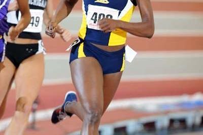 Alysia Johnson at the 2008 NCAA indoor championships (Kirby Lee)