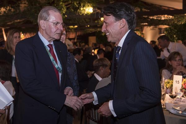 Honorary IOC President Jacques Rogge and IAAF President Sebastian Coe (Getty Images)