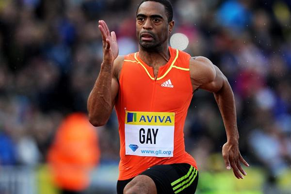 Tyson Gay in full flow in Crystal Palace (Mark Shearman)
