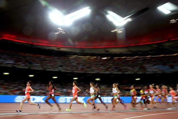 The women's 10,000m final at the IAAF World Championships, Beijing 2015 (Getty Images)