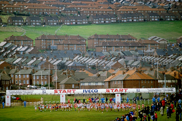The 1983 IAAF World Cross Country Championships in Gateshead (Getty Images)