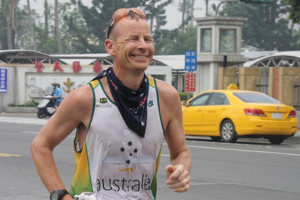 John Pearson of Australia at the 2016 IAU 24-Hour Asia and Oceania Championships title (Frank Kuo and Samantha Wang)