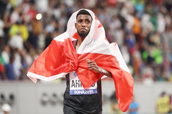 Canada's Mohammed Ahmed after taking 5000m bronze at the 2019 World Championships (Getty Images)