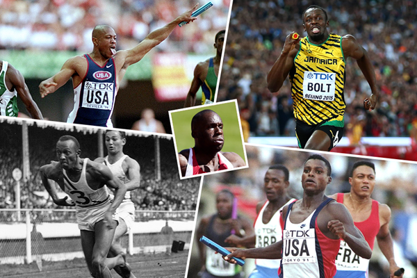 Bruny Surin's dream relay team (Getty Images)