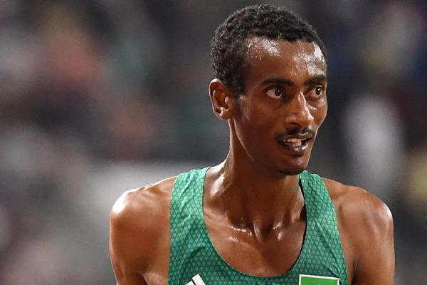Yomif Kejelcha after the 10,000m at the IAAF World Athletics Championships Doha 2019 (AFP / Getty Images)