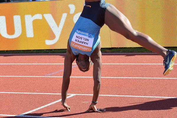 Dawn Harper Nelson at the 2015 IAAF Diamond League meeting in Birmingham (Jean-Pierre Duarnd)