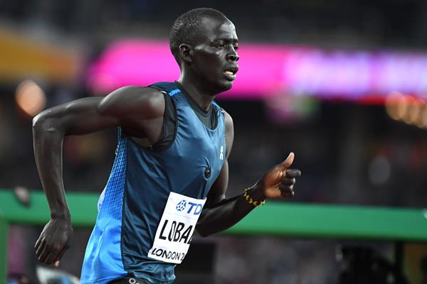 Athlete Refugee Team member Dominic Lokinyomo at the IAAF World Championships London 2017 (AFP / Getty Images)