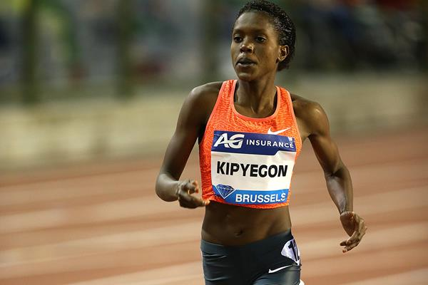 Faith Kipyegon at the 2015 IAAF Diamond League final in Brussels (Giancarlo Colombo)