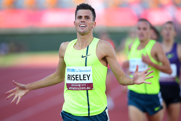 Jeff Riseley wins the 1500m at the Australian Championships (Getty Images)