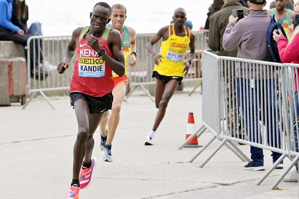 Kibiwott Kandie in action at the World Athletics Half Marathon Championships Gdynia 2020 (Getty Images)