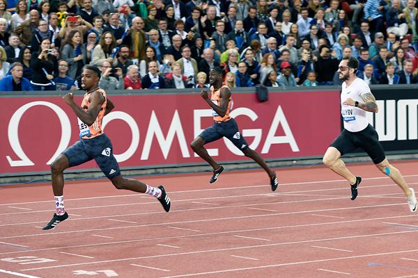 Noah Lyles wins the 200m at the IAAF Diamond League final in Zurich (Mark Shearman)