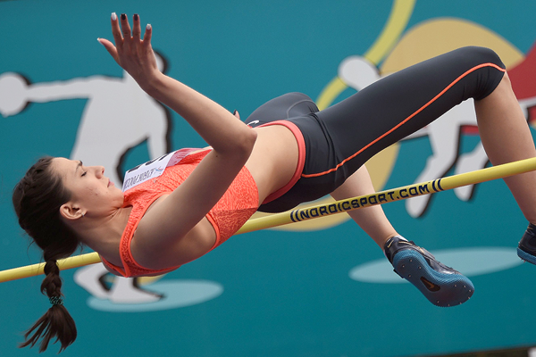 Maria Lasitskene in action in the high jump (AFP / Getty Images)