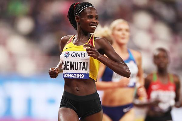 Peruth Chemutai at the IAAF World Athletics Championships Doha 2019 (Getty Images)