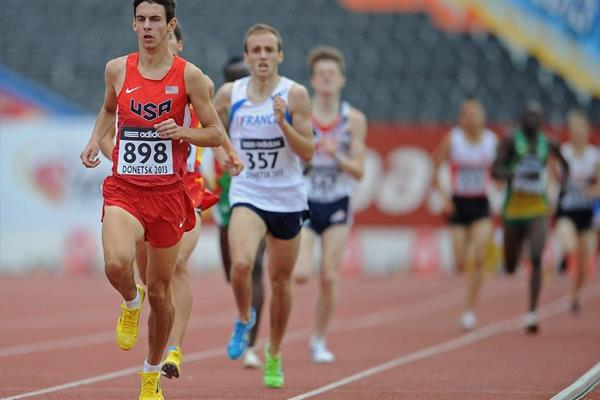 Blake Haney in the boys' 1500m at the IAAF World Youth Championships 2013 (Getty Images)