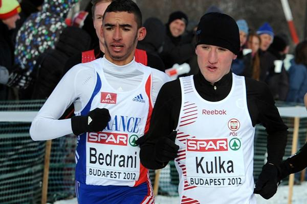 Szymon Kulka, winner of the junior men's race at the European Cross Country Championships (Mark Shearman)