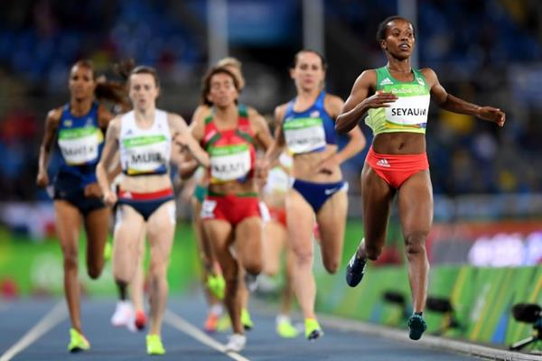 Dawit Seyaum in the 1500m at the Rio 2016 Olympic Games (Getty Images)