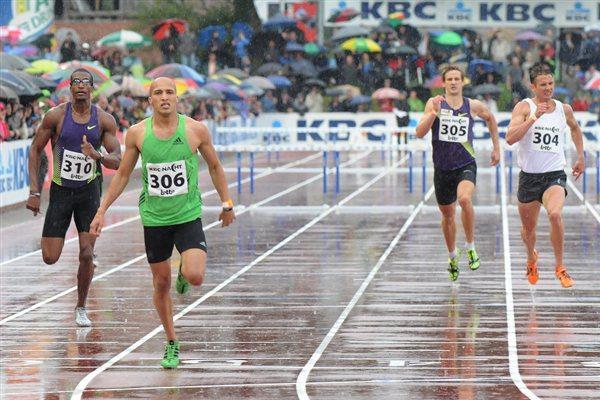 Cornel Fredericks takes a big win in rainy Heusden (Nadia Verhoft)