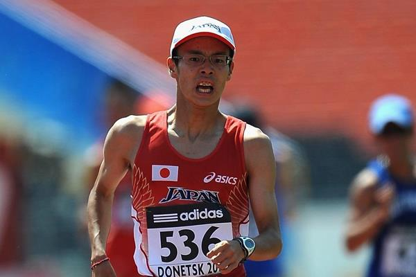 Toshikazu Yamanishi winning at the 2013 IAAF World Youth Championships (Getty Images)