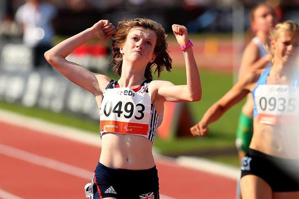 Sophie Hahn at the 2013 IPC Athletics World Championships (Getty Images)