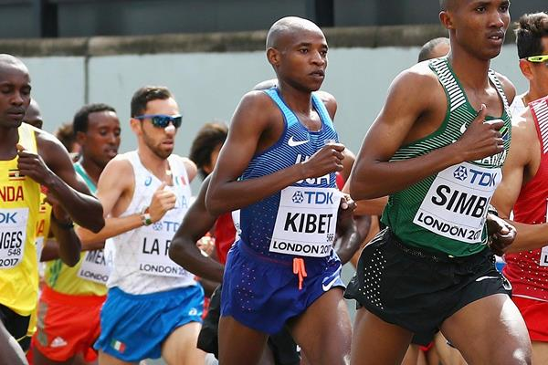 Elkanah Kibet in the marathon at the IAAF World Championships London 2017 (Getty Images)