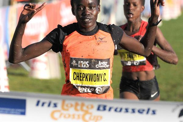 Caroline Chepkwony from Kenya wins in Brussels (Nadia Verhoft)