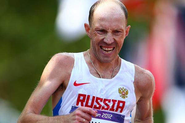 Sergey Kirdyapkin on the way to Olympic 50km gold in London (Getty Images)