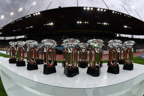 Diamond League Trophies at Zurich's Letzigrund Stadium (IAAF Diamond League)