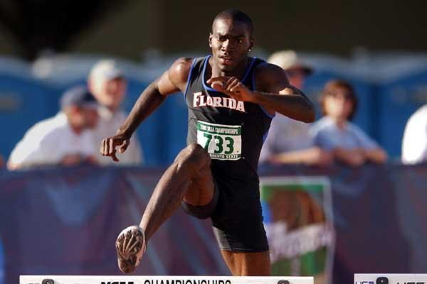 Kerron Clement, Florida, NCAA 400m Hurdles winner (Kirby Lee/The Sporting Image)