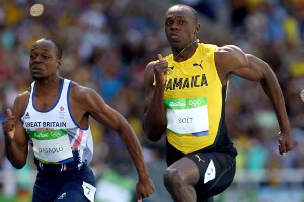 Usain Bolt in the 100m at the Rio 2016 Olympic Games (Getty Images)