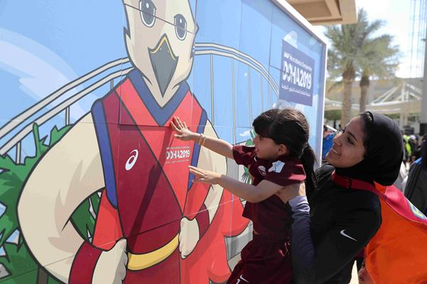 Falah, the official mascot for the IAAF World Athletics Championships Doha 2019 (Doha 2019 LOC)
