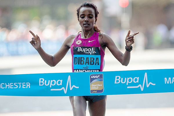 Tirunesh Dibaba wins the Great Manchester Run (Dan Vernon / organisers)
