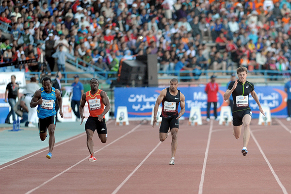 The men's 100m at the Meeting International Mohammed VI in Rabat (AFP / Getty Images)