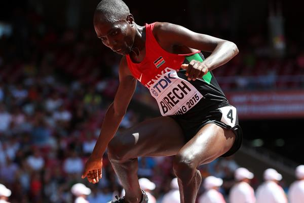 Jairus Birech in the 3000m steeplechase heats at the IAAF World Championships, Beijing 2015 (Getty Images)