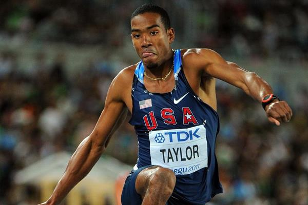 Christian Taylor of the USA, winner of the men's triple jump in Daegu (Getty Images)