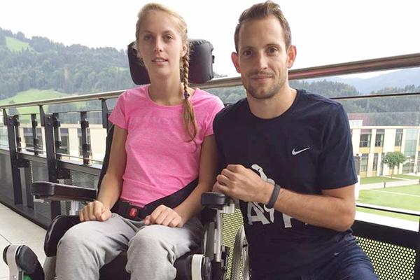 Kira Grunberg with Renaud Laviillenie ( Tom Sports Consulting)