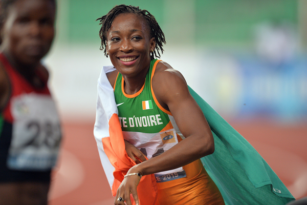 Marie-Josee Ta Lou after winning the 100m at the All-Africa Games (AFP / Getty Images)