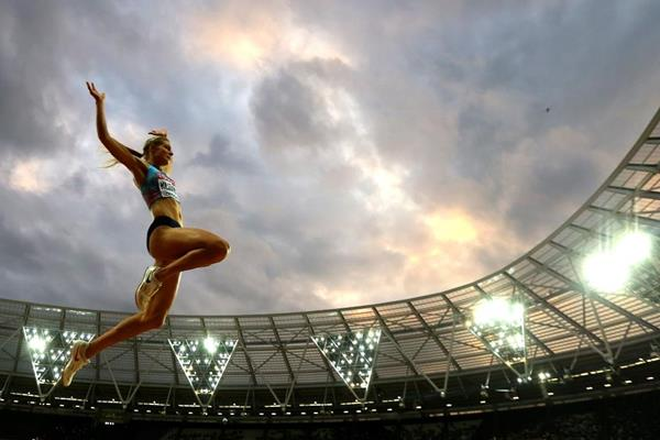 Daria Klishina in the long jump at the IAAF World Championships London 2017 (Getty Images)