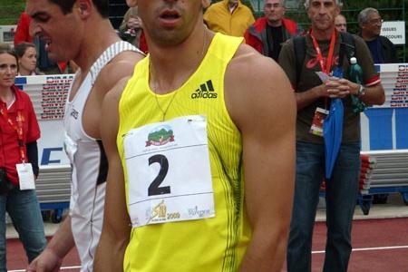 Oleksiy Kasyanov before the 1500m in 2009 Talence Decaster (Hans van Kuijen)
