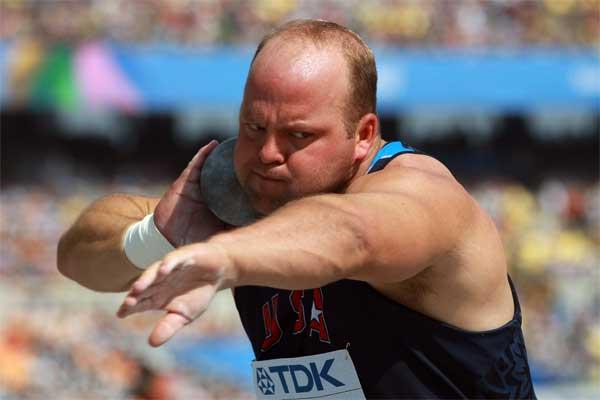American shot putter Adam Nelson (Getty images)