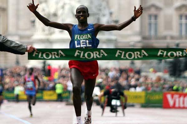 Martin Lel wins his third Flora London Marathon title (Getty Images)