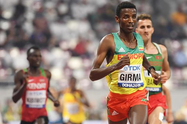 Lamecha Girma in the steeplechase at the IAAF World Athletics Championships Doha 2019 (AFP / Getty Images)